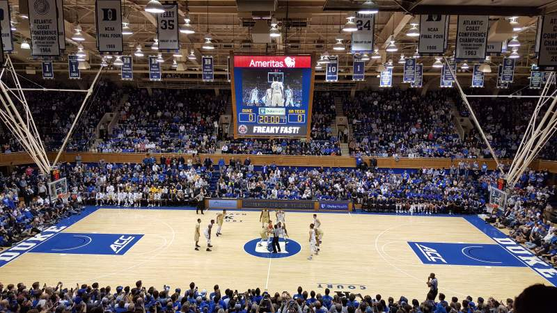 Seating view for Cameron Indoor Stadium Section 15 Row M Seat 18