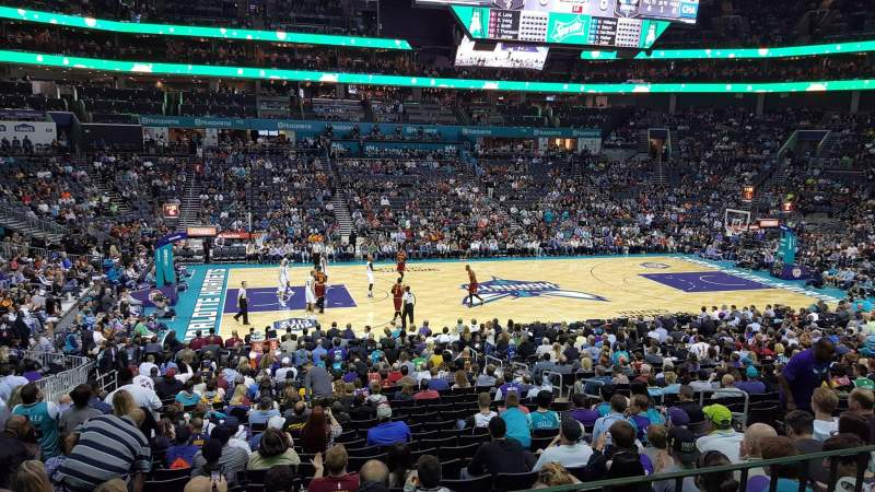 Seating view for Spectrum Center Section 106 Row Club Level