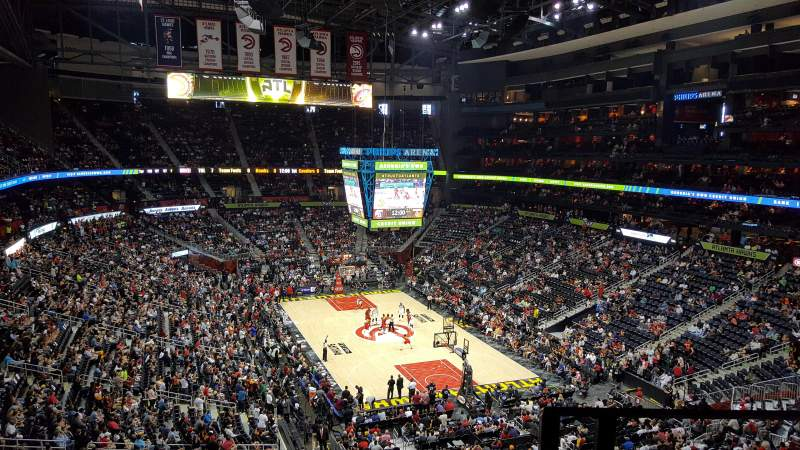 Seating view for State Farm Arena Section 217 Row F Seat 1