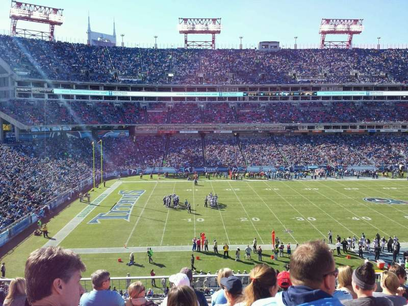 Seating view for Nissan Stadium Section 215 Row g Seat 7