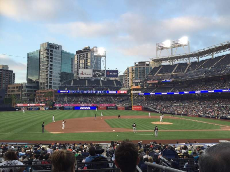 Seating view for PETCO Park Section 112 Row 29 Seat 2