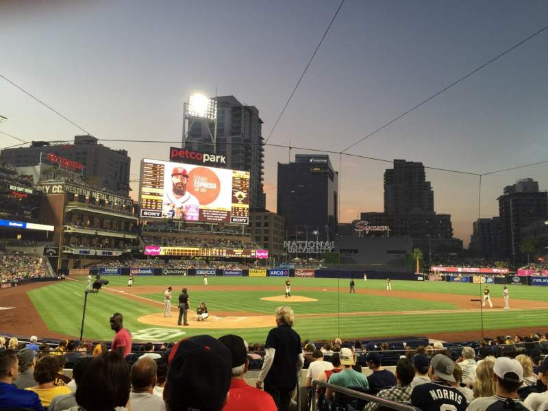 Seating view for PETCO Park Section 101 Row 18 Seat 21