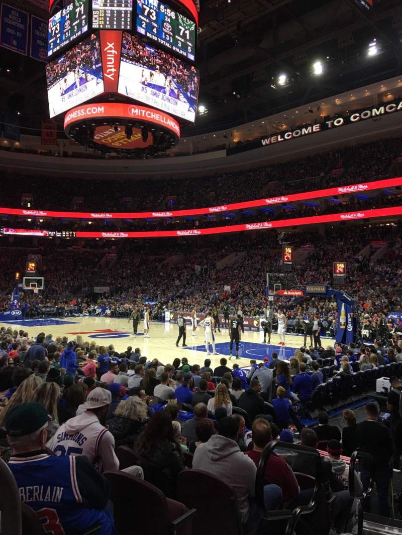 Seating view for Wells Fargo Center Section 116 Row 8 Seat 1