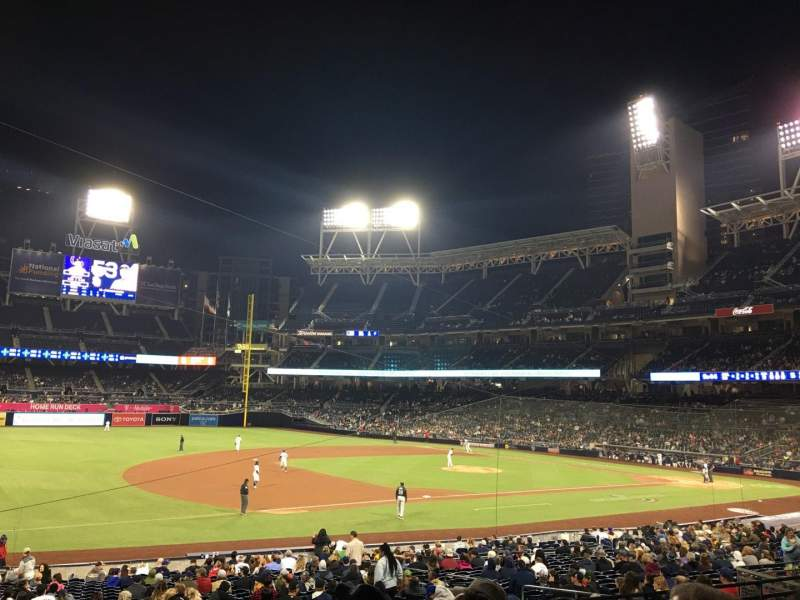 Seating view for PETCO Park Section 114 Row 31 Seat 26