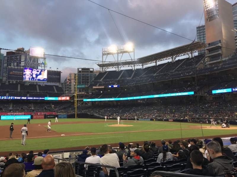 Seating view for PETCO Park Section 112 Row 15 Seat 2