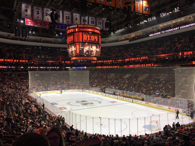 Seating view for Wells Fargo Center Section 117 Row 26 Seat 14
