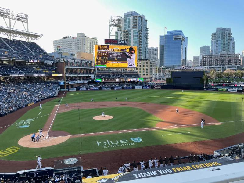 Seating view for PETCO Park Section 203 Row 1 Seat 18