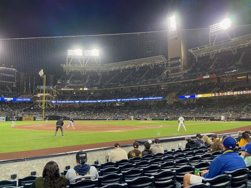 Seating view for PETCO Park Section 114 Row 7 Seat 20
