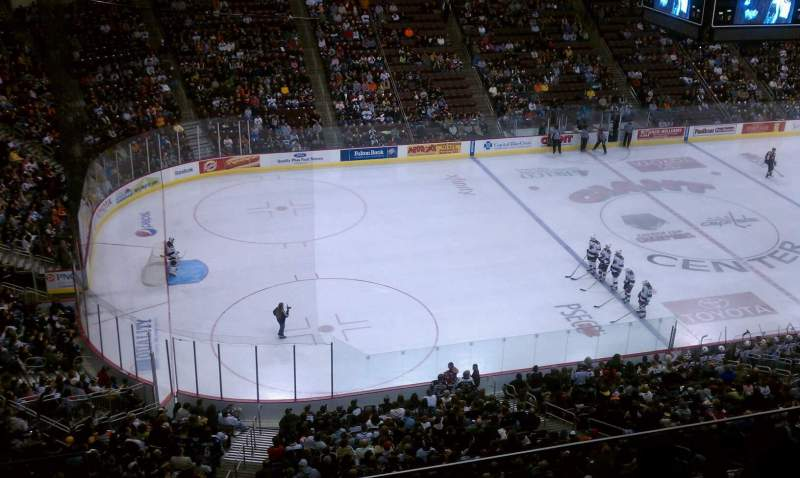 Seating view for Giant Center Section 218 Row E Seat 9