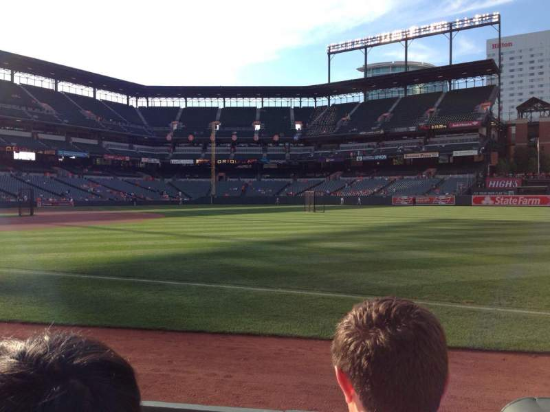 Seating view for Oriole Park at Camden Yards Section 12 Row 2 Seat 6