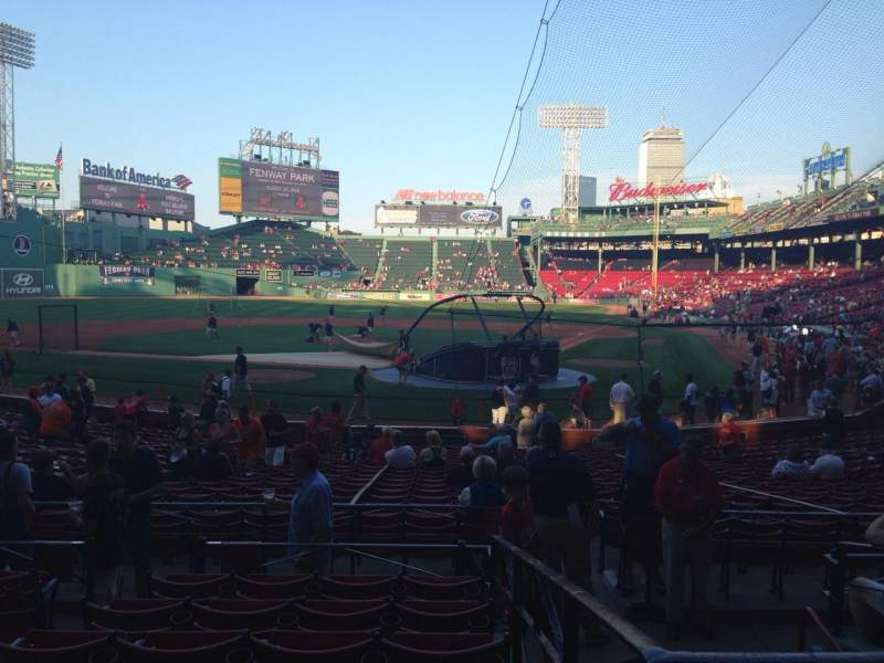 Fenway Park, section: Loge Box 135, row: GG, seat: 4