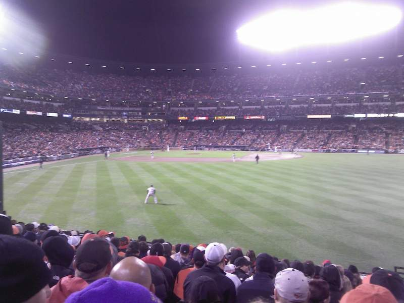 Seating view for Oriole Park at Camden Yards Section 98 Row 15 Seat 1