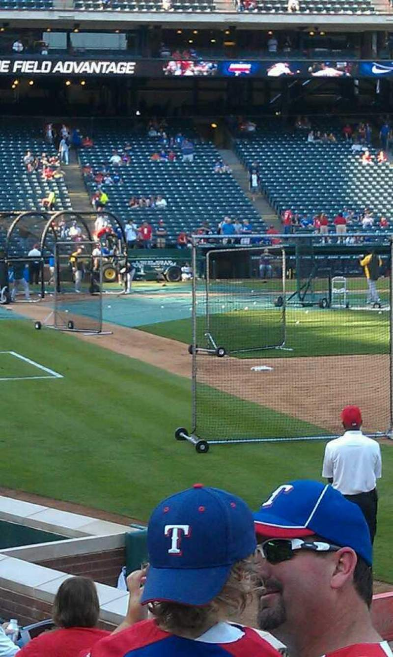 Seating view for Globe Life Park in Arlington Section 38 Row 8 Seat 3
