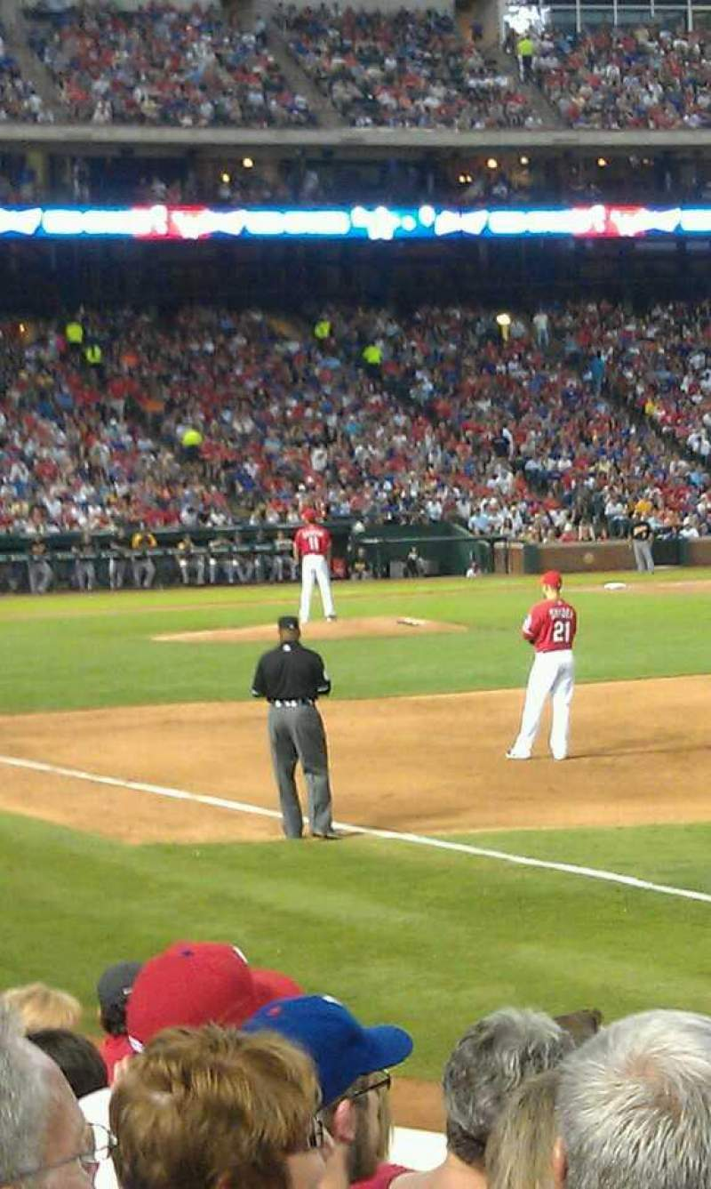 Seating view for Globe Life Park in Arlington Section 38 Row 8 Seat 1