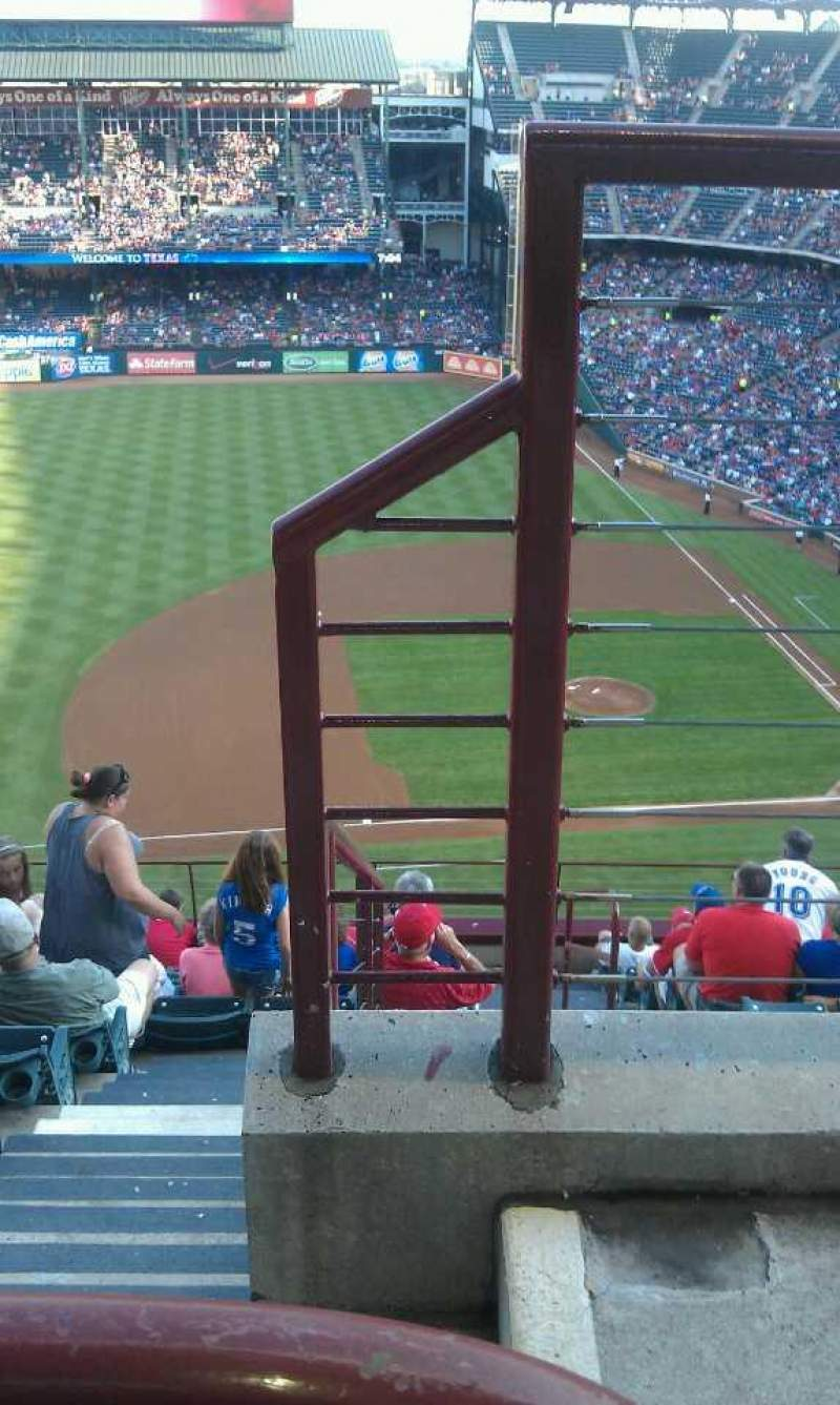 Seating view for Globe Life Park in Arlington Section 318 Row 13 Seat 18