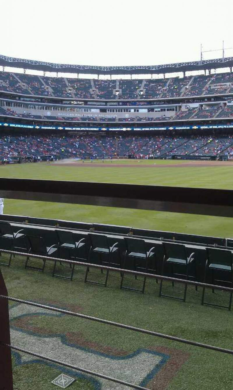 Seating view for Globe Life Park in Arlington Section 49 Row 6 Seat 10