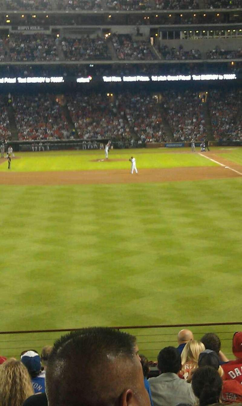 Seating view for Globe Life Park in Arlington Section 7 Row 12 Seat 3