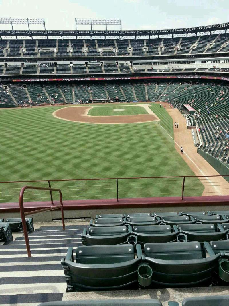 Seating view for Globe Life Park in Arlington Section 205 Row 6 Seat 1