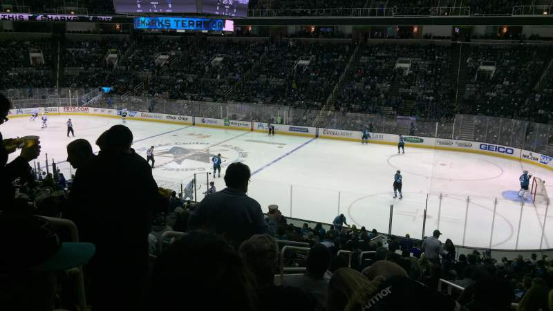 Seating view for SAP Center at San Jose Section 127 Row 25 Seat 16