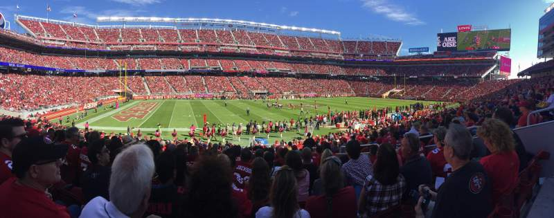Seating view for Levi's Stadium Section 142 Row 20 Seat 11