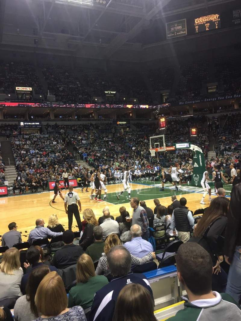 Seating view for BMO Harris Bradley Center Section 214 Row E Seat 3