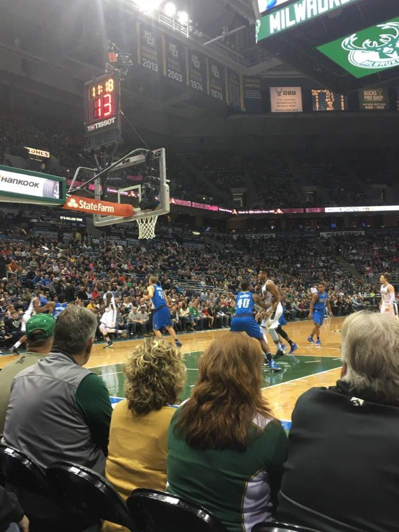 Seating view for BMO Harris Bradley Center Section 101 Row CCC Seat 5