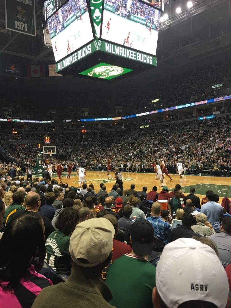 Seating view for BMO Harris Bradley Center Section 226 Row D Seat 1