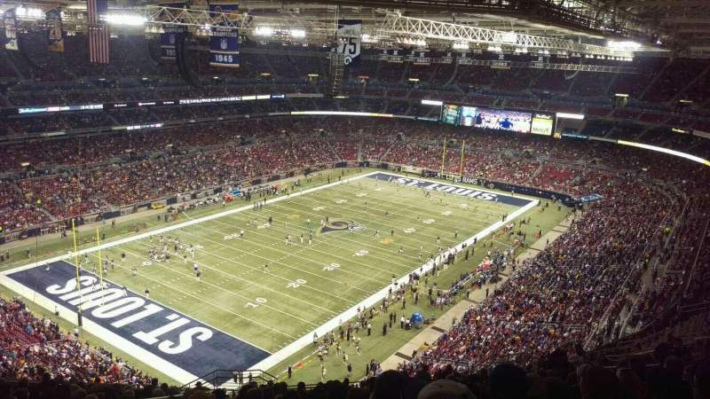 Seating view for The Dome at America's Center Section 421 Row TT Seat 19