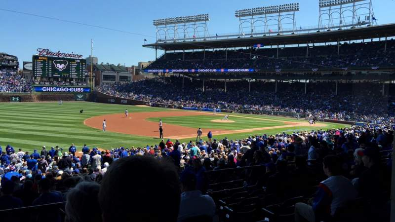 Seating view for Wrigley Field Section 208 Row 7 Seat 106
