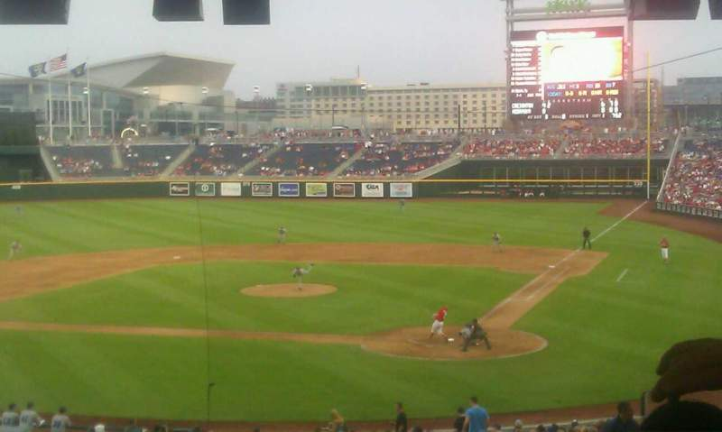 Seating view for TD Ameritrade Park Section 109 Row 9 Seat 18