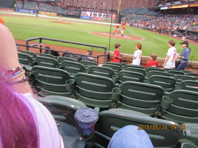 Seating view for Oriole Park at Camden Yards Section 46 Row 5 Seat 8