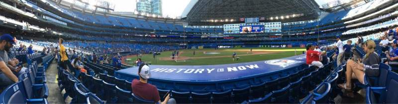 Seating view for Rogers Centre Section 119R Row 9