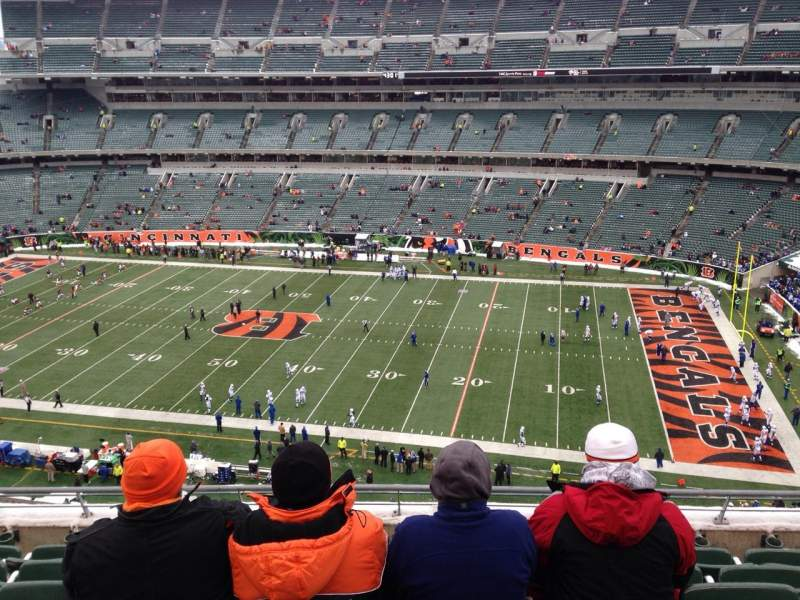 Seating view for Paul Brown Stadium Section 307 Row 6 Seat 12