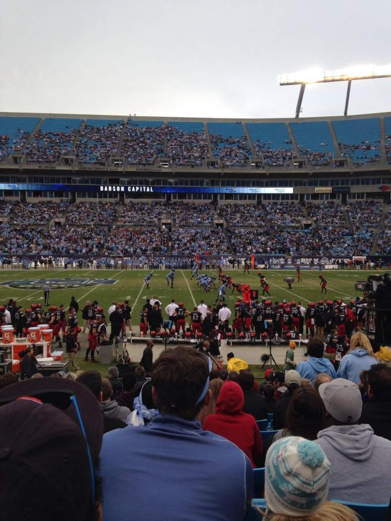 Seating view for Bank of America Stadium Section 131 Row 11 Seat 8