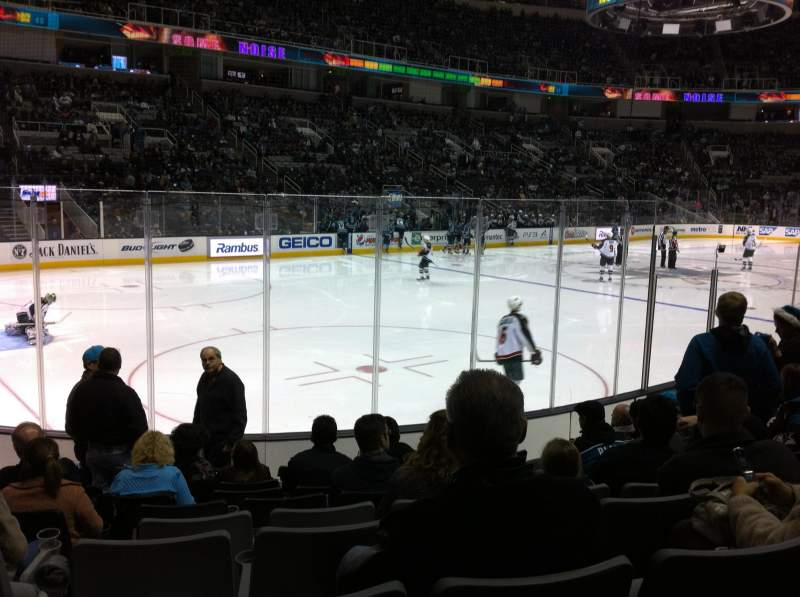 Seating view for SAP Center at San Jose Section 117 Row 9 Seat 14