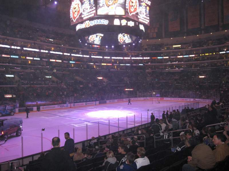 Seating view for Staples Center Section 114 Row 16 Seat 1