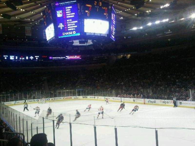Seating view for Madison Square Garden Section 120 Row 8 Seat 12