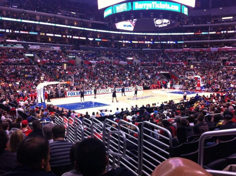 Seating view for Staples Center Section 114 Row 16 Seat 2