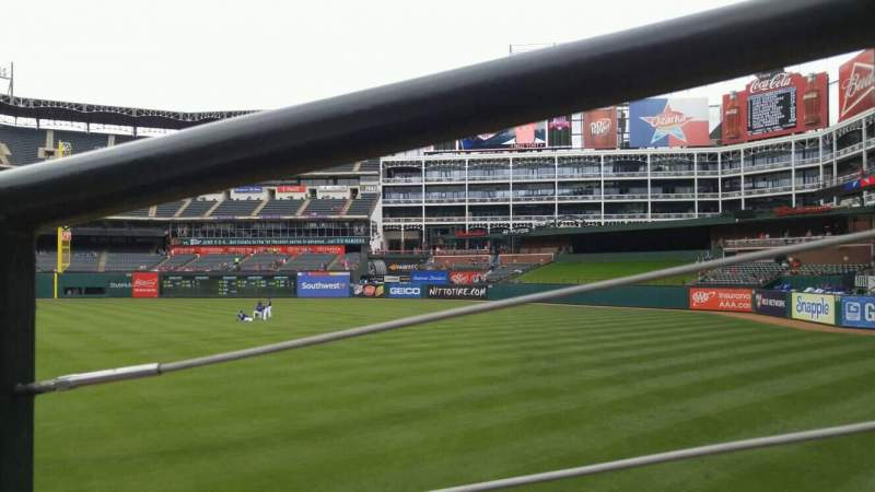 Seating view for Globe Life Park in Arlington Section 40 Row 12 Seat 8