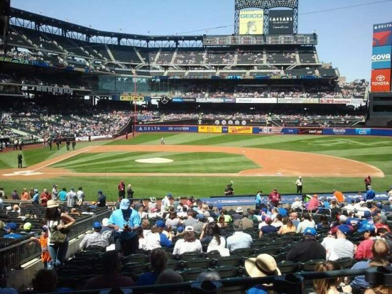 Seating view for Citi Field Section 114 Row 25 Seat 1