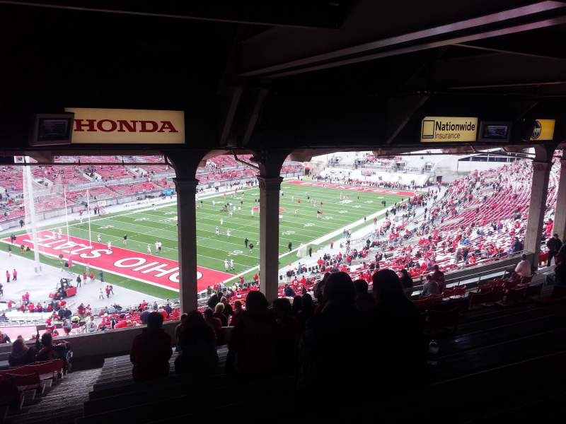 Seating view for ohio stadium Section 7b Row 17 Seat 19