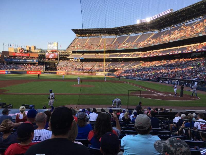 Seating view for Turner Field Section 108L Row 14 Seat 105