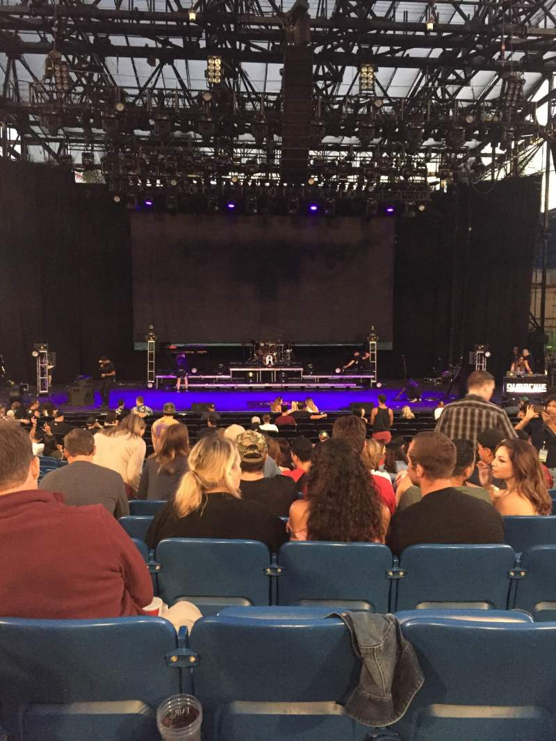 Seating view for Pacific Amphitheatre Section 2 Row H Seat 28