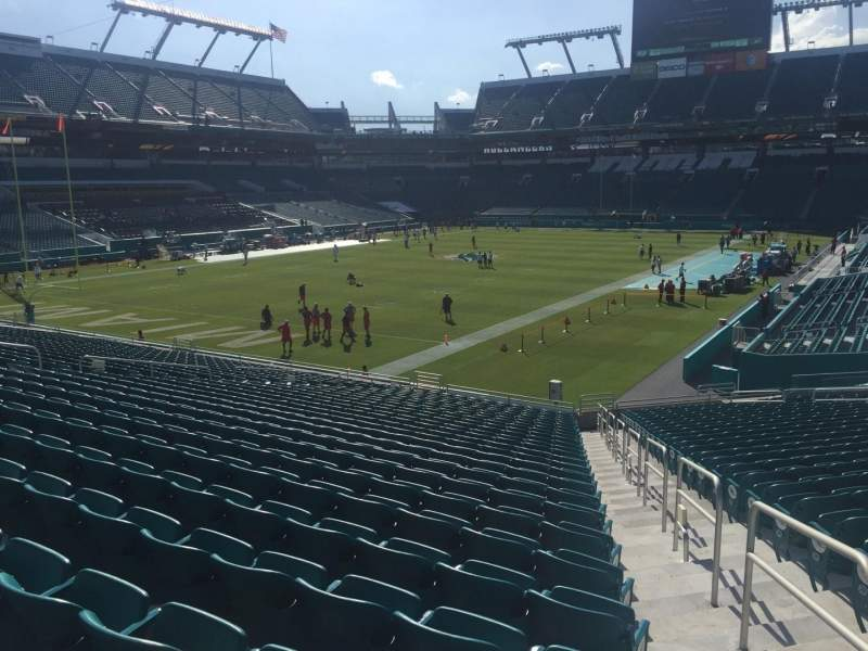 Seating view for Hard Rock Stadium Section 129 Row 27 Seat 1