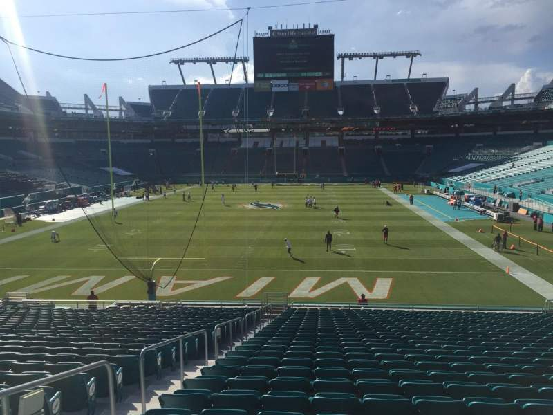 Seating view for Hard Rock Stadium Section 131 Row 28 Seat 21
