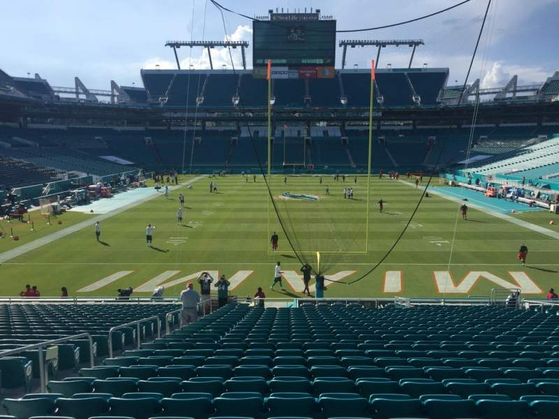 Seating view for Hard Rock Stadium Section 132 Row 27 Seat 19