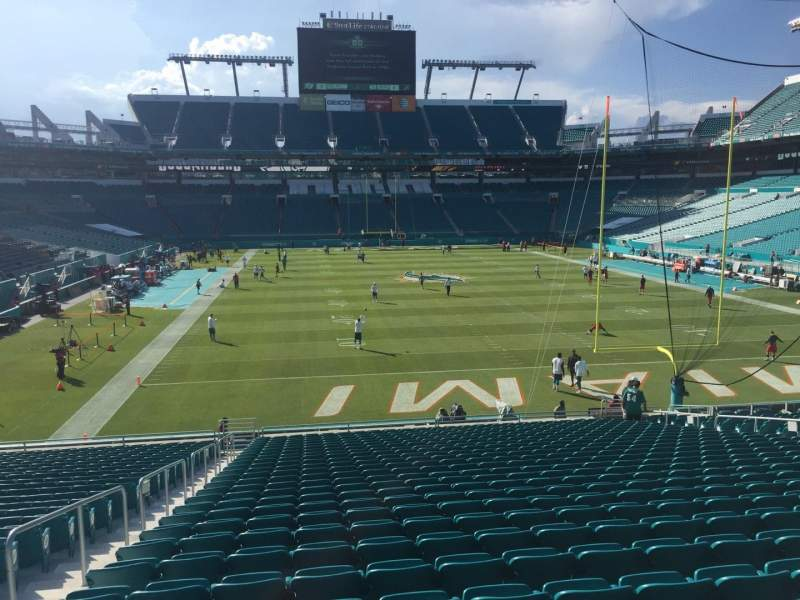 Seating view for Hard Rock Stadium Section 133 Row 28 Seat 21