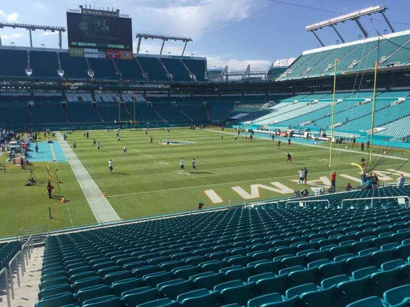 Seating view for Hard Rock Stadium Section 134 Row 27 Seat 24