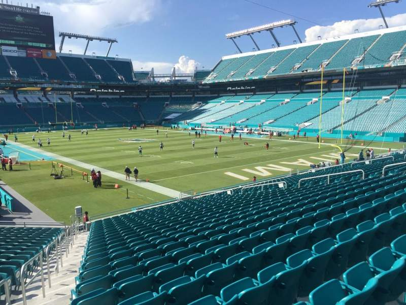 Seating view for Hard Rock Stadium Section 135 Row 25 Seat 29