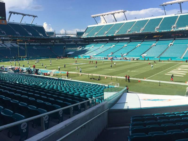Seating view for Hard Rock Stadium Section 139 Row 22 Seat 28